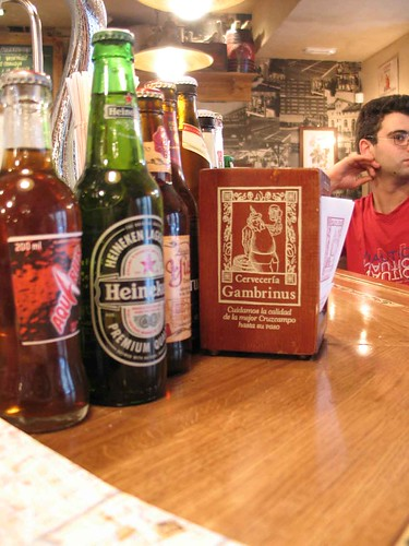 Beer bar in Madrid