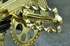 Photo of a very different golden bike