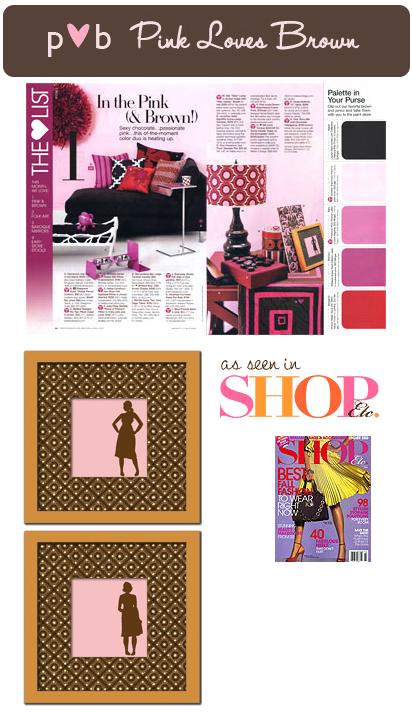 Pink Loves Brown: Silhouette Framed Prints!