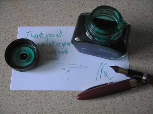Sheaffer Saratoga Snorkel - Thank you
