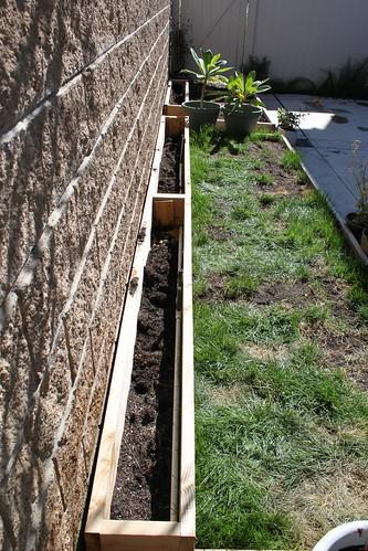 Grass Planter Sprinkler Installation