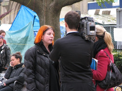 Rachel Talking to CBC about Small Business & Occupy Toronto