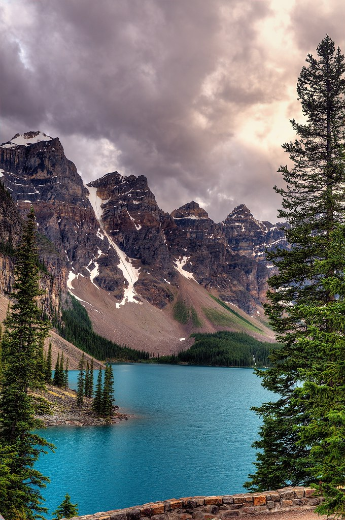 Moraine Lake Under Clouds