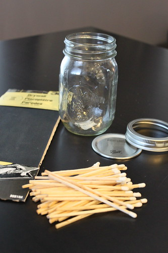 Canning Jar Match Holder