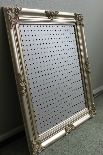 Bulletin Board - Before, Pegboard Jewelry