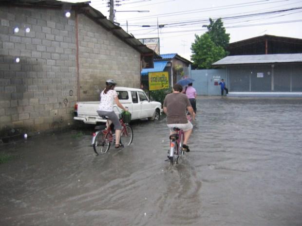 flooded road - rainy season 2005