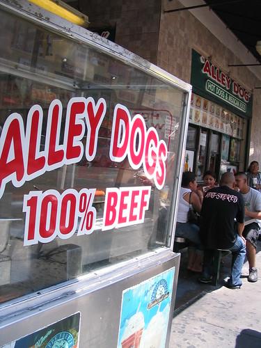 Santee Alley hotdog cart