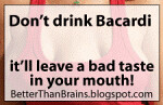 Boycott Bacardi - it'll leave a bad taste in your mouth!