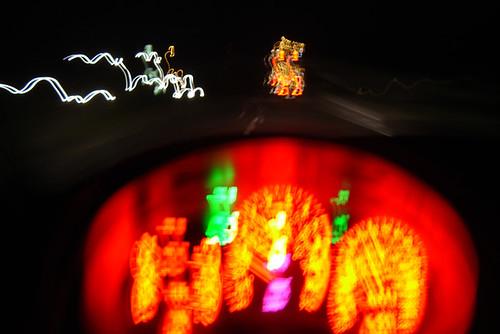 Subaru WRX STI dashboard whilst driving down