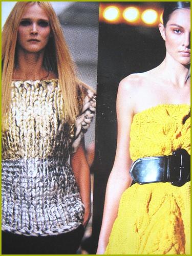 closeup of knitwear in fashion scrapbook