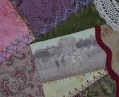 Croquet Cushion -  still more seam embellishments