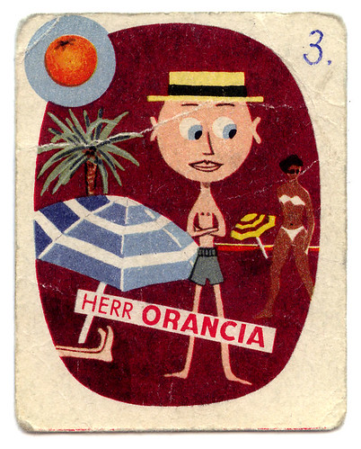 playing card showing 'Herr Orancia' character