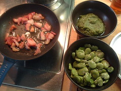 Bacon and broad beans