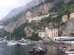 houses hug the precipice at amalfi