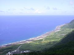 從蘭嶼氣象站俯瞰全島