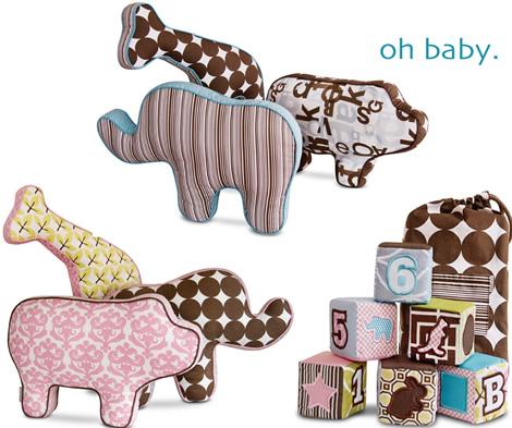 Dwell Baby Softies - Blocks + Animals!