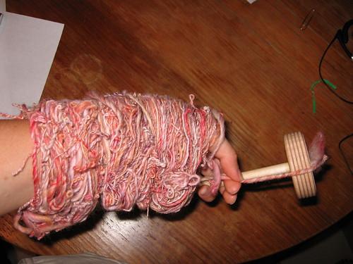 andean plying bracelet