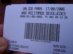 Entrada a las cataratas, lado brasileño
