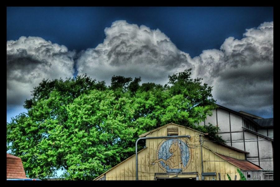 Texas Storm Heading for the Barn