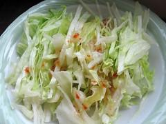 salad with Kraft Zesty Italian dressing