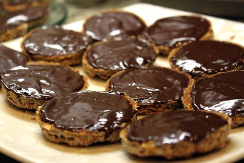 Dark Chocolate Dipped Oatmeal Chewies