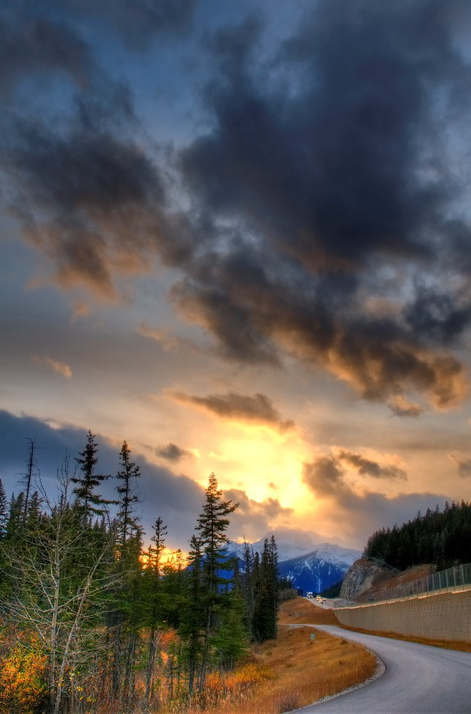Vermillion Lakes Road Sunset