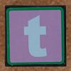Brick letter t