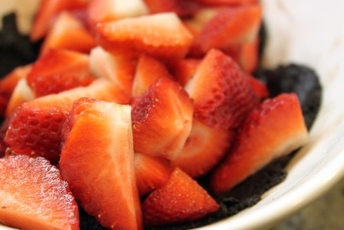 Strawberries & Brownie Batter