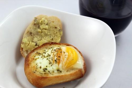 Baked Eggs w/ Avocado & POM