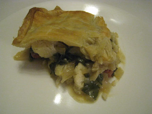 Sausage, Cauliflower and Swiss Chard Potpie