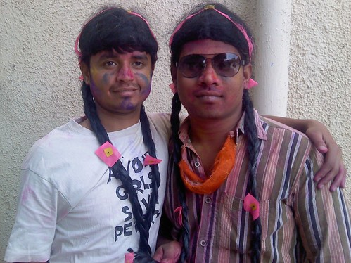 Funny colleagues on Holi