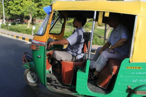 An Indian tuk tuk