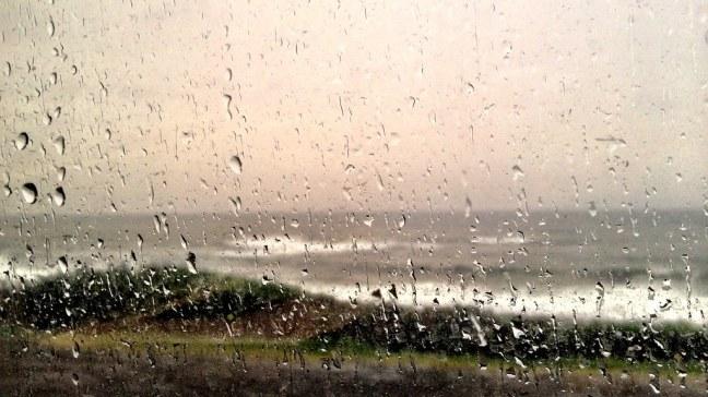 Rainy day on Oregon coast