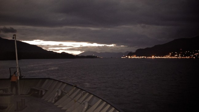 Evening lights of Ketchikan