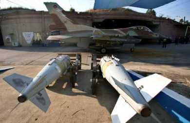 israeli jet prepares at a base in N Israel, 7/20/06