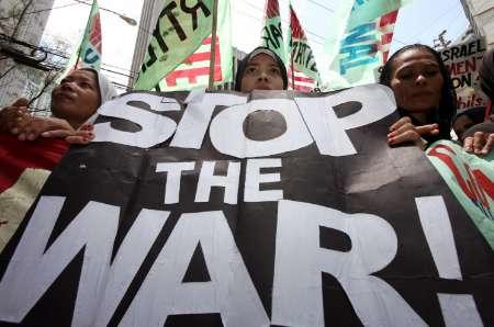 anti Israeli war rally, Manila, 8/2/06
