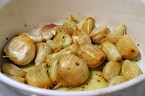 28 roasted garlic cloves
