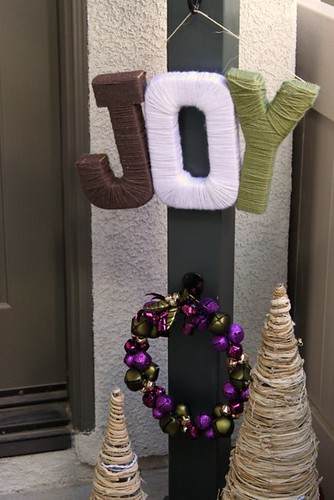 JOY Yarn Holiday Sign