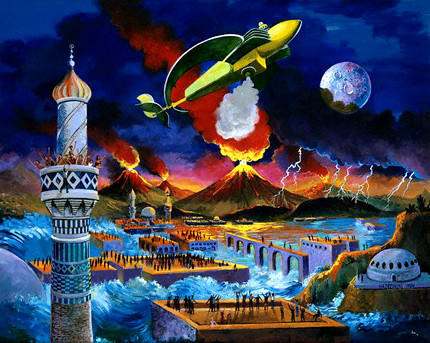 Painting of Apocalypse Scene - Anton Brzezinski