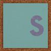 Cardboard letter s