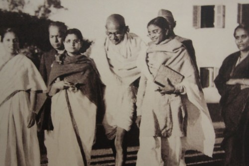 Gandhi and his followers