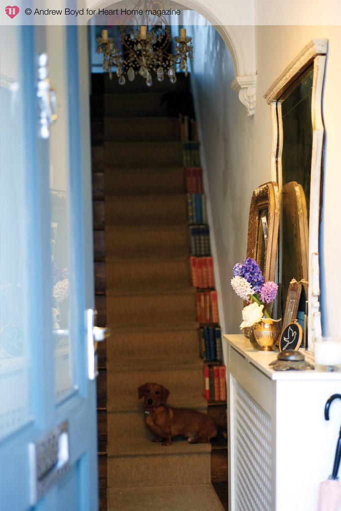 Narrow hallway and stairs - Andrew Boyd for Heart Home