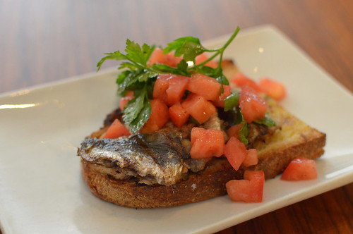 Grilled Sardines on Toast, Turkish style