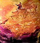 Elijah's departure in a fiery chariot