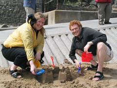 Sarah and Jamie at the Beach