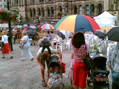 Jazz festival in the rain