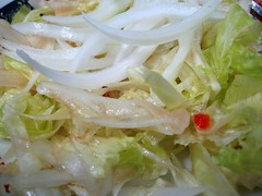 salad with onions