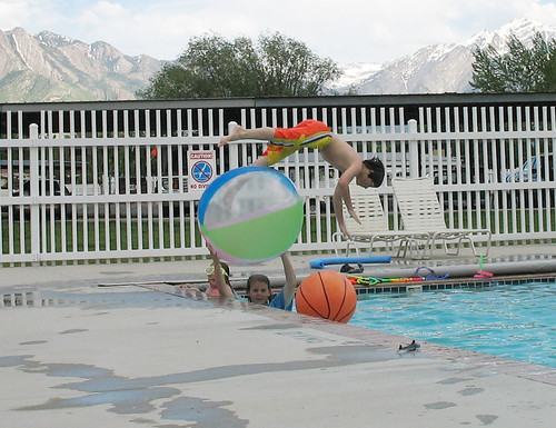 Christopher dives over ball