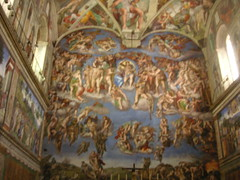 the famous painting in sistine chapel, vatican city