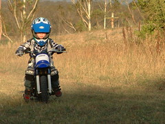 Jacob on his first Bike